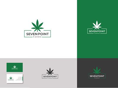 SEVEN POINT creative seven brand design minimalist 2d modern logo concept frame company icon typography vector brand identity graphic design logo flat logo design branding design