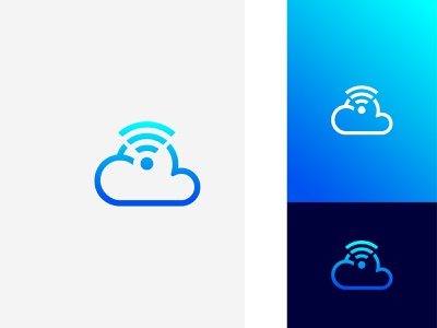 Sky Wifi technology wifi logo icons app cloud gradient modern concept company brand design vector brand identity icon design logo flat graphic design logo design branding