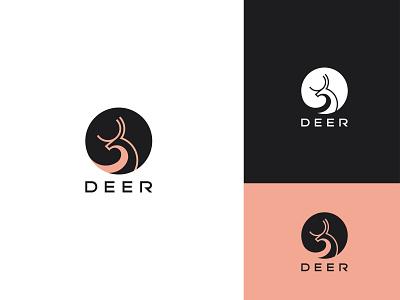 DEER animal company branding minimalist deer logo concept logo mark logo flat graphic design vector brand identity design logo design branding
