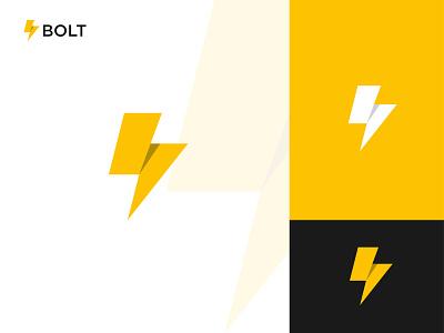 Bolt power logo modern colorful brand logo app power bolt icon concept brand identity vector flat graphic design design logo logo design branding