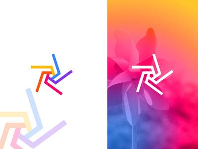 Windmill Modern Logo design colorful company logo business brand design minimal minimalist chorki windmills graphic gradient graphic design modern concept logo design design logo flat vector brand identity branding