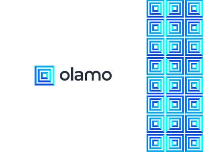 Olamo gradient blue colorful letter logo design letter o logo business company logo icon branding design modern logo mark design graphic design concept vector flat logo design branding brand identity
