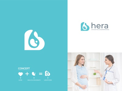 Herm Women's  Healthcare minimalist logotype maternity healthcare logo digital healthcare colorful graphic brand design logo mark concept brand identity vector flat logo logo design branding healthcare app healthcare
