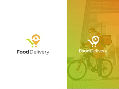 Food Delivery company business services food delivery food logo design food app colorful minimal minimalist modern concept icon graphic design logo design flat design brand identity vector logo branding