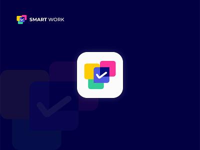 Smart Work Modern Logo Design and icon design. business smart work work lettermark graphic creative logo mark logotype colorful logo modern concept icon design logo flat vector logo design brand identity branding