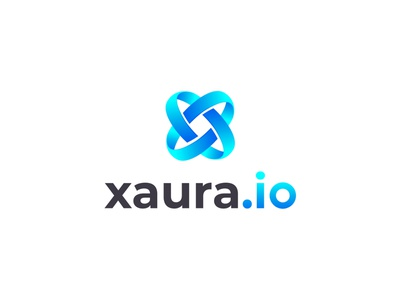 Xaura.io Modern X Letter logo design business company branding design logotype colorful gradient x x logo letter logo icon logo mark concept modern brand identity vector flat design logo logo design branding