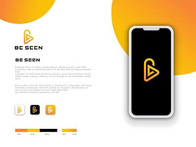 Be Seen modern Logo Design graphic design logo mark logo typo logo barnd business logo company logo media letter logo concept modern logo design design logo flat vector brand identity branding