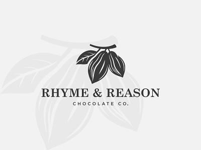 RHYME & REASON milinal logo minimalist concept logo type modern logo coconut coffe logo graphic design logo design design logo flat vector brand identity branding
