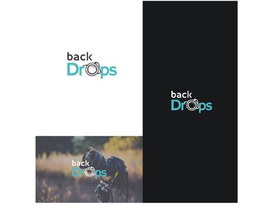 Backdrops design photography typography flat vector logo design