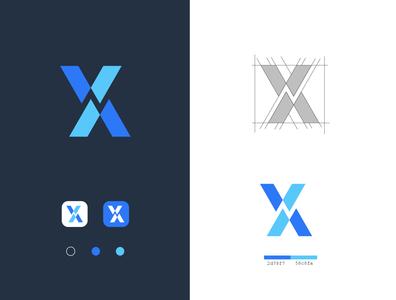 x apps logo flat ui graphic icon app branding logo graphic design logo design design