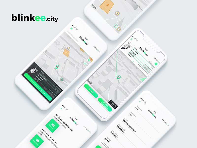 Blinkee City Sharing System Mobile App By B Mind Software House
