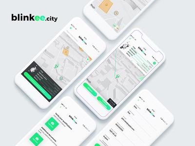 Blinkee City Sharing System Mobile App react native design ux software development electric mobile app vehicle sharing scooter sharing