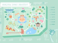 Map of Attractions in HDU