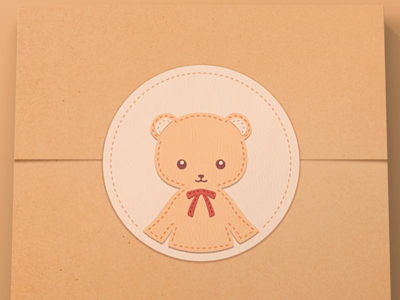 Teddy Bear Sticker handmade bear teddy icon sticker