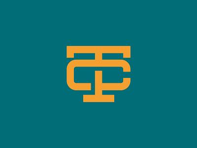 TC MONOGRAM minimal flat logo design logo branding vector icon design