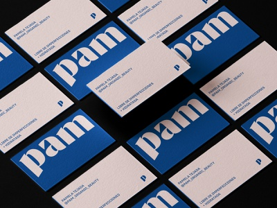 PAM BUSINESS CARD DESIGN businesscard minimal vector logo design logo design branding
