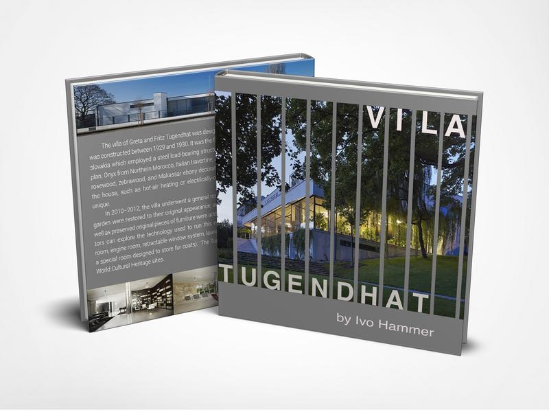 Vila Tugendhat cover book cover design cover book czech republic brno vila book