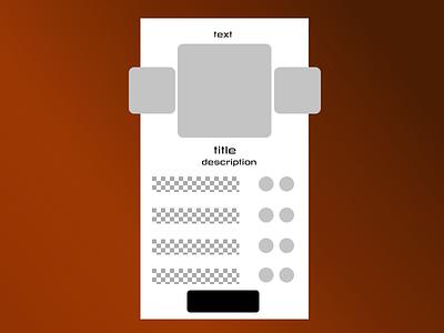 Wireframe Shot app design uidesign uxdesign wireframe