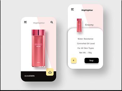 Concept Ui For Cosmetic App uxdesign concept design concept ui