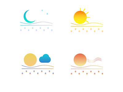 Weather Sticker Designing2 design vector illustraion ux ui sticker