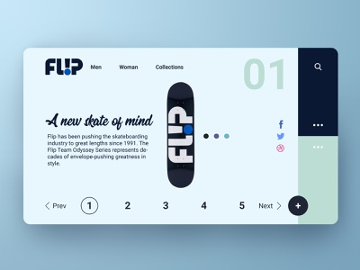 Flip Landing page UI/UX design product design sports ui design skateboard web design graphic design uiux design ux design ui design web ux web design web ui landing page uiux ux ui