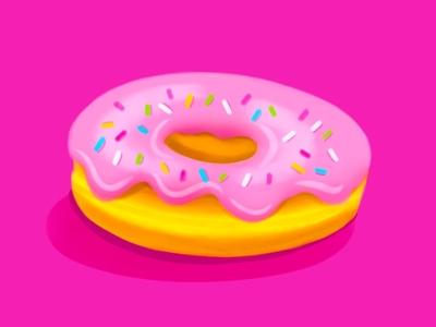 Pink Glazed Donut