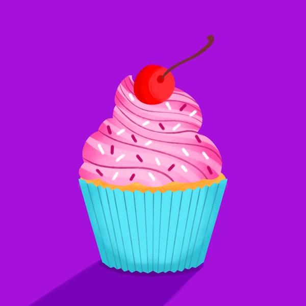 Pink Cupcake pastry advertising pop art food cupcake editorial graphic art childrens books editorial illustration nicole wilson illustrator illustration