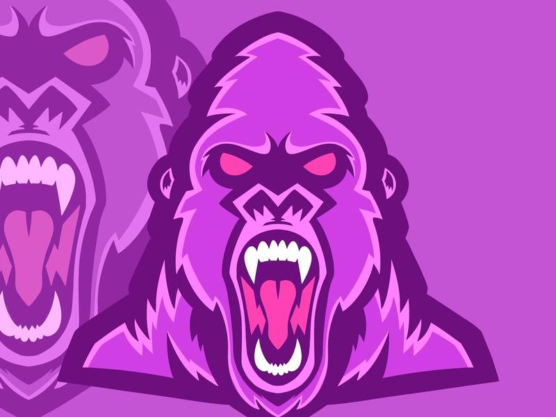 Thrillah Gorillas vector design digital art colorful editorial graphic art typography branding logo editorial illustration nicole wilson illustrator illustration