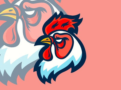 Fighting Roosters icon caricature advertising logo animals illustrated branding vector design digital art colorful editorial childrens books graphic art editorial illustration nicole wilson illustrator illustration