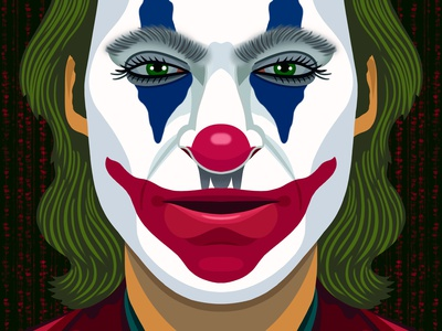 The Joker designer portrait villian comic colorful digital art editorial childrens books graphic art illustrator editorial illustration nicole wilson illustration