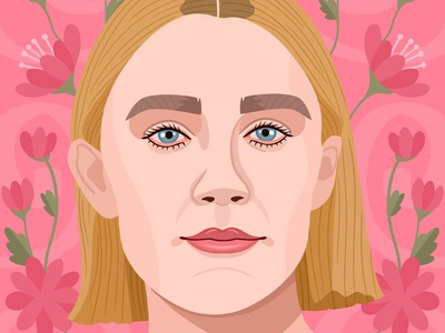 Saoirse Ronan portrait logo designer designer vector design colorful digital art editorial graphic art childrens books illustrator editorial illustration nicole wilson illustration