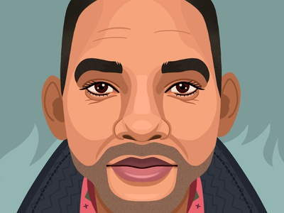 Will Smith portrait design colorful digital art editorial graphic art childrens books illustrator editorial illustration nicole wilson illustration