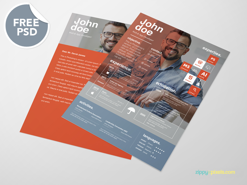 Free Resume template + cover letter template [3 color ...