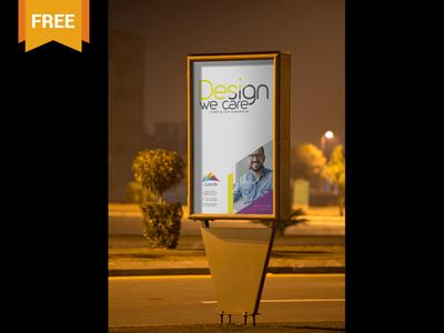 Free Outdoor Roadside Poster PSD Mockup