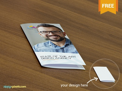 Free PSD Mockup of Flyers on wooden surface free freebie mockup mockups mock up mock-up flyer psd print
