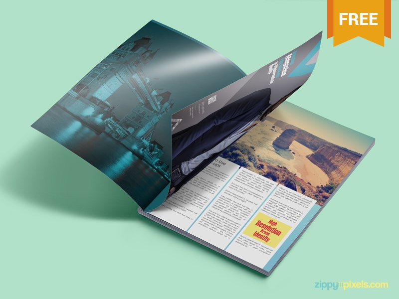 Free Magazine Ad PSD Mockup free freebie mockup mockups mock up mock-up magazine psd print advertisement