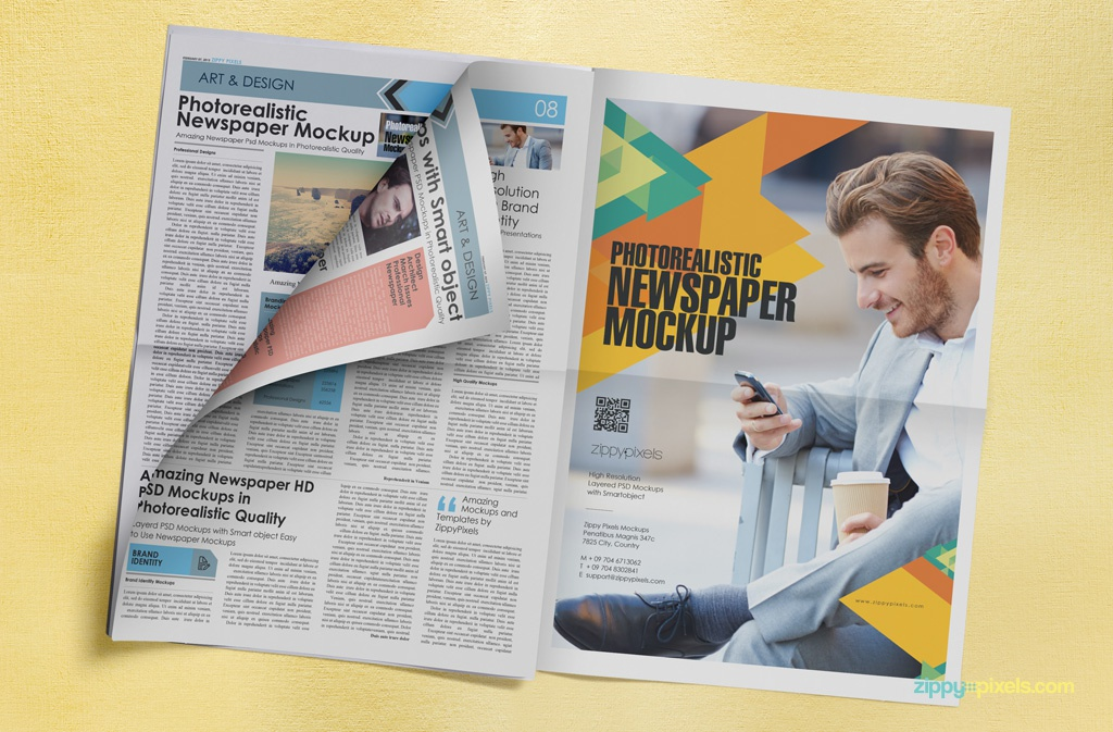 Amazing Tabloid Size Newspaper Ad Mockups by ZippyPixels - Dribbble