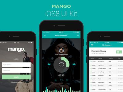 Mango - A Gorgeous Vector iOS8 UI Kit