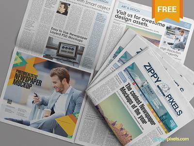 Free PSD Newspaper advertisement Mockup print free freebie mockup mock up mock-up ad advertising newspaper broadsheet psd