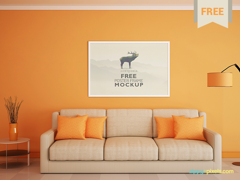 free poster and photo frame mockup by zippypixels dribbble