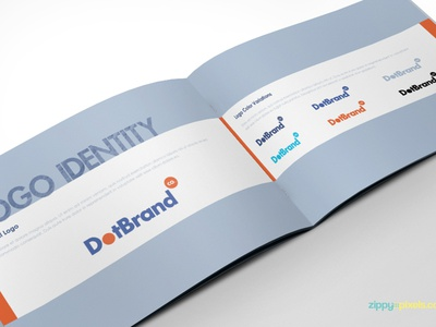 Free Brand Guidelines Template - Cool Blue brand style guide corporate identity guidelines brand guidelines brand book brandbook illusrator indesign template free freebie