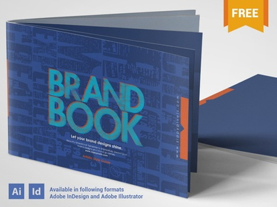 free brand guidelines template cool blue