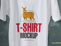 image 1 - Cool V-Neck Tshirt Mockup For Free