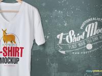 image 3 - Cool V-Neck Tshirt Mockup For Free