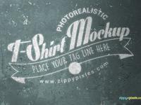 image 2 - Cool V-Neck Tshirt Mockup For Free