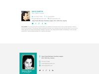 Dribbble image by zippypixels for Free email signature template