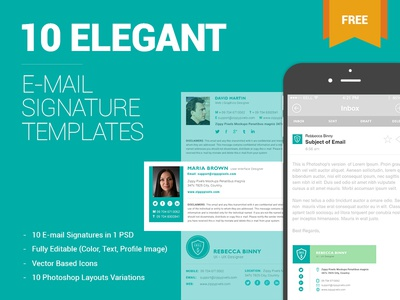 Free Email Signature Templates By Zippypixels  Dribbble