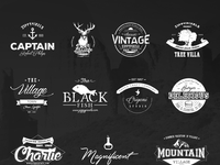 Free vintage logo kit 15 vector logo templates by zippypixels image 1 image 2 image 5 free vintage logo pronofoot35fo Choice Image