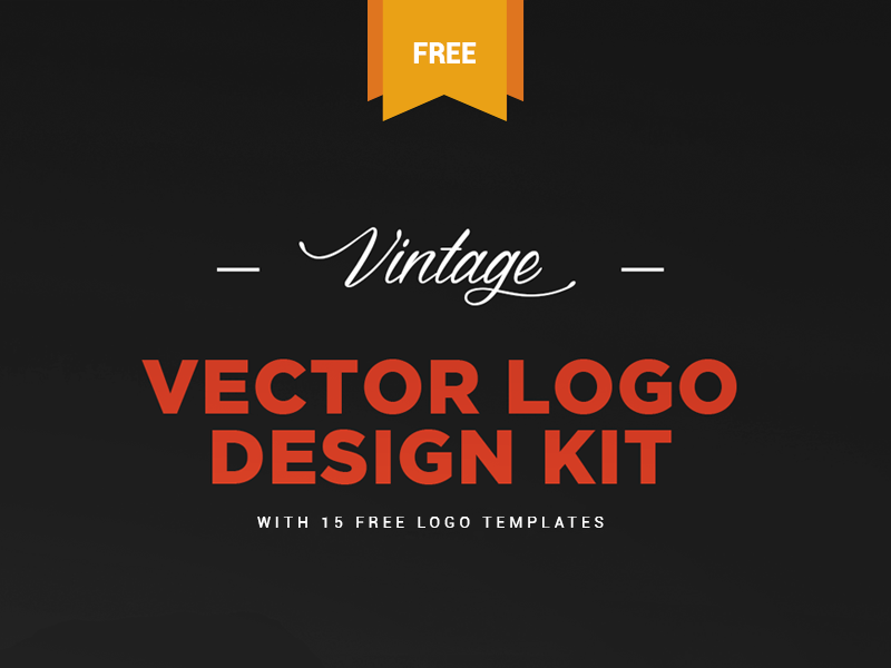 Free Vintage Logo Kit 15 Vector Logo Templates By Zippypixels