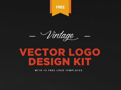 Free Vintage Logo Kit & 15 Vector Logo Templates by ZippyPixels ...